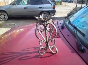 метален сувенир - свещник от метал