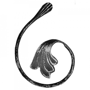 метален елемент с листо