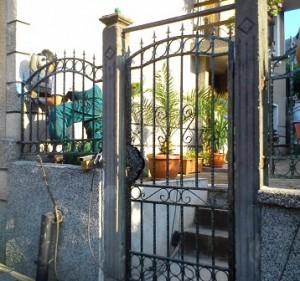 ограда от ковано желязо по поръчка на клиента