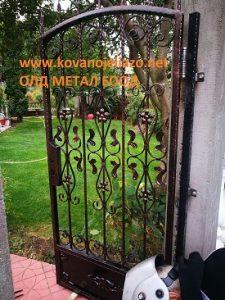 метална врата от ковано желязо